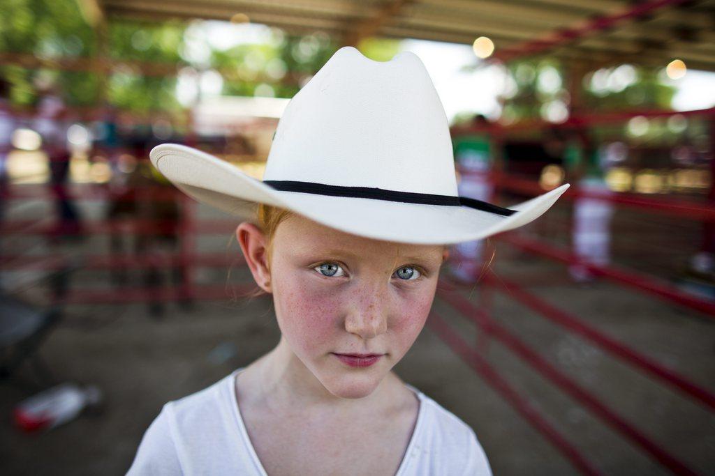 Serie Ländliche Jahrmärkte und Messen in Iowa - hier: Porträt beim Great Jones County Fair and Food Fest in Monticello EPA/JIM LO SCALZO
