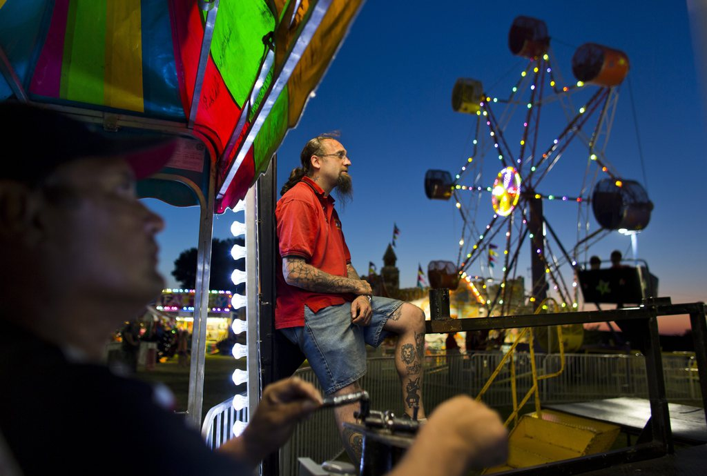 Serie Ländliche Jahrmärkte und Messen in Iowa - hier: Floyd County Fair in Charles City  EPA/JIM LO SCALZO
