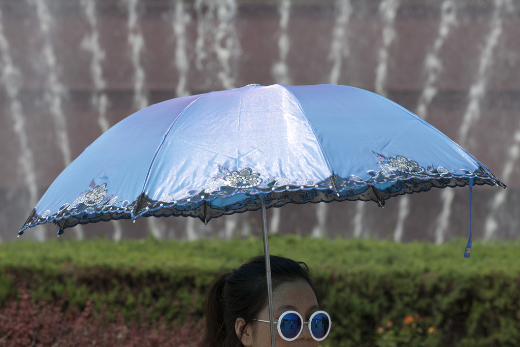 Sommerhitze in Beijing China (AP Photo/Alexander F. Yuan)
