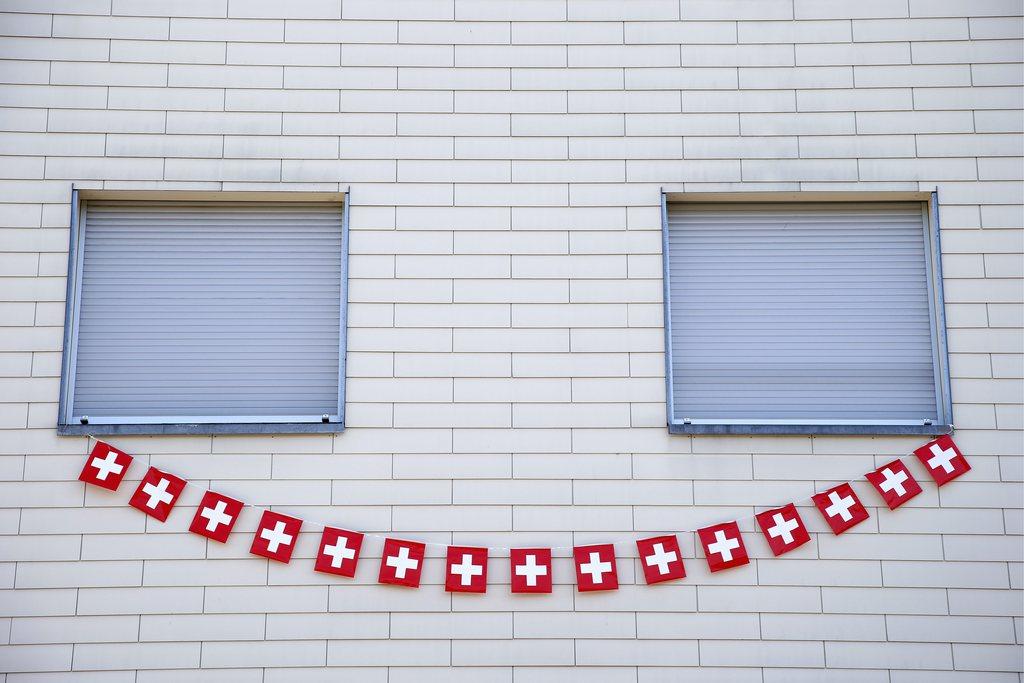 Schweizer Nationalfeiertag in Bern, Schweiz (Keystone/Peter Klaunzer)