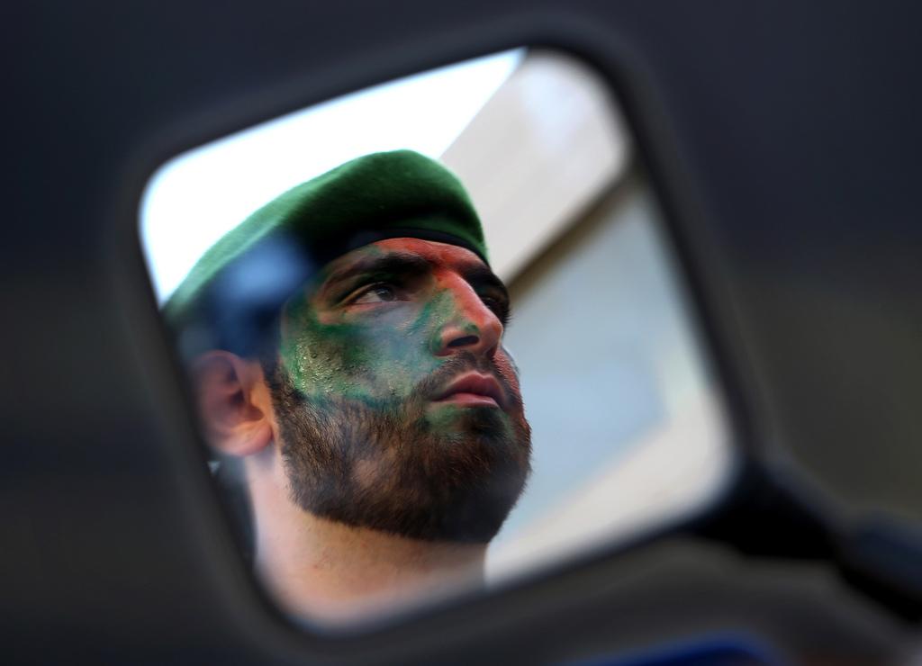 EIn Hezbollah-Kämpfer in Nabatiyeh, Libanon (Keystone/AP Photo/Hussein Malla)