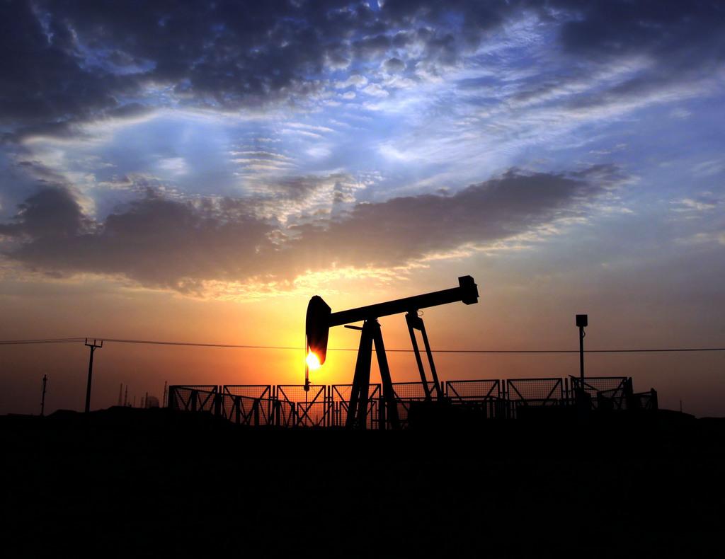 Ölförderpumpe in Sakhir, Bahrain (Keystone/AP Photo/Hasan Jamali)