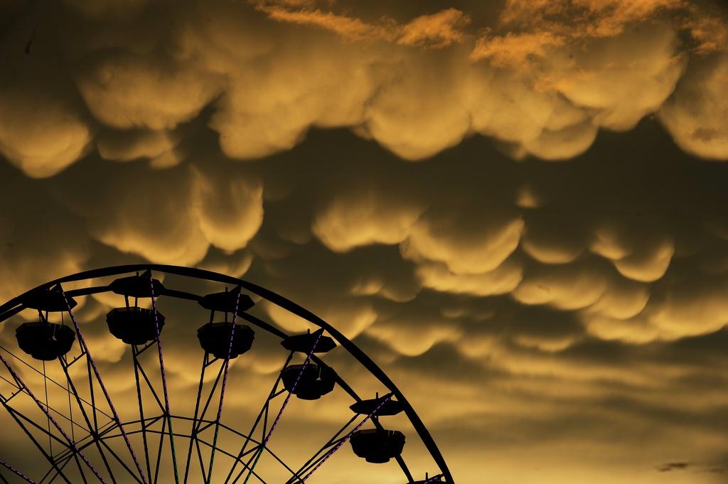Mammut-Wolken über Fredericksburg, USA (Keystone/AP Photo/The Free Lance-Star, Peter Cihelka)