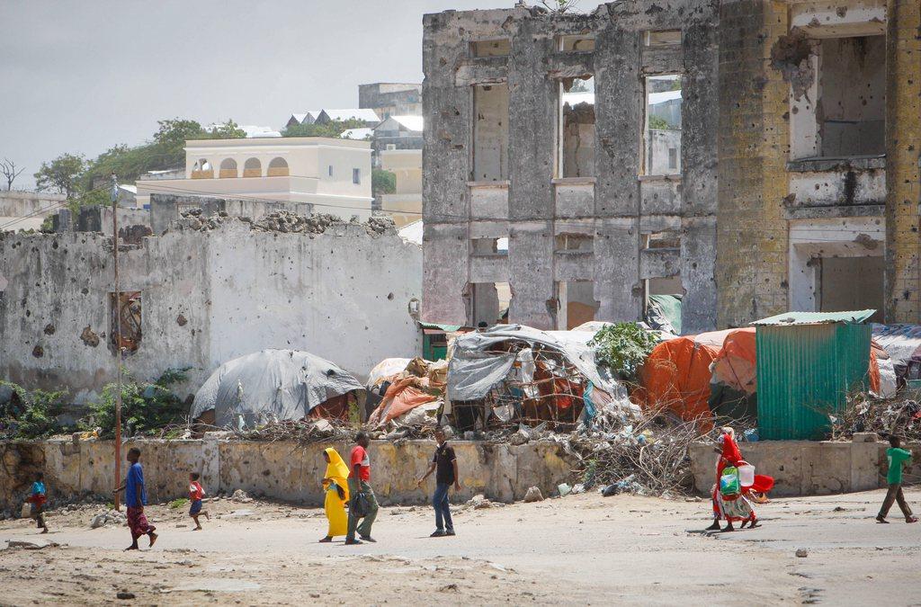 Straßenszene in Mogadischu Somalia EPA/STUART PRICE / AU-UN IST PHOTO