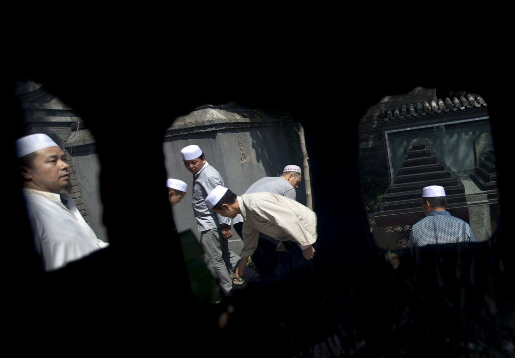 Eine Moschee in Beijing China (AP Photo/Andy Wong)
