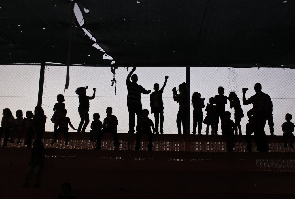 Zuschauer im Zirkus, Gaza-Streifen Palästina EPA/ALI ALI
