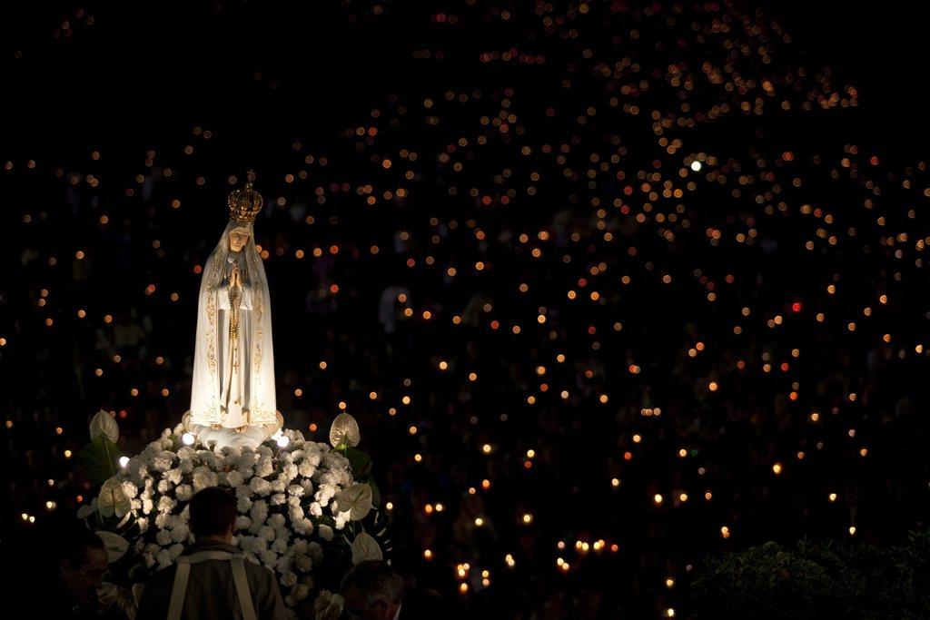 Prozession in Fatima Portugal EPA/PAULO CUNHA