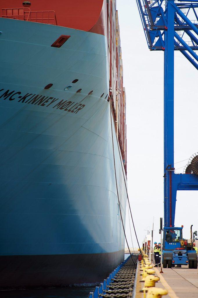 Im Containerhafen von Gdansk, Polen (Keystone/EPA/Adam Warzawa)