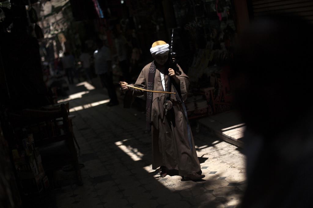 Straßenmusiker im Khan El-Khalili Markt in Kairo, Ägypten (Keystone/AP Photo/Manu Bravo)