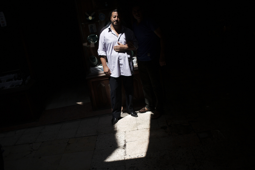 Ein Händler im Khan El-Khalili Markt in Kairo, Ägypten (Keystone/AP Photo/Manu Brabo)