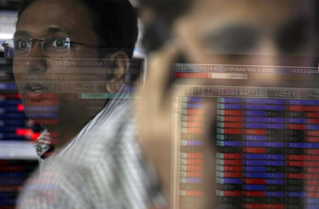 Broker in Mumbai, Indien (Keystone/EPA/Divyajant Solanki)