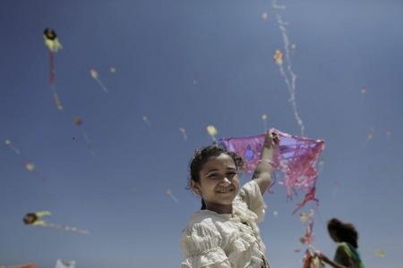 Plästinensische Kinder im nördlichen Gaza Streifen (Keystone/EPA/Ali Ali)