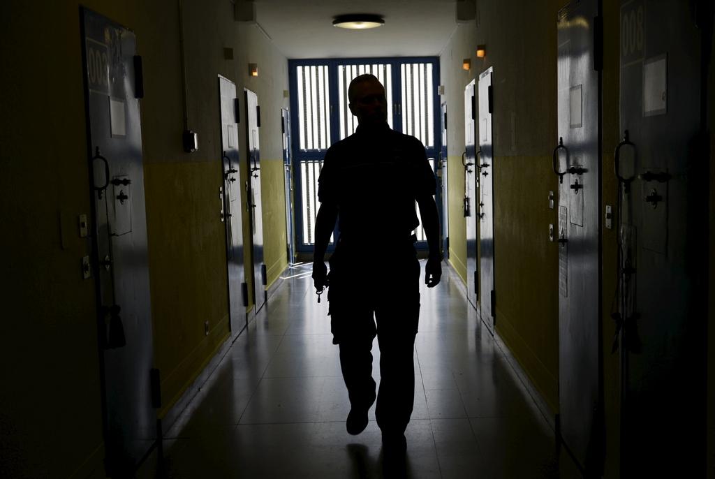 Im Gefängnis La Stampa von Lugano, Italien (Keystone/Karl Mathis)