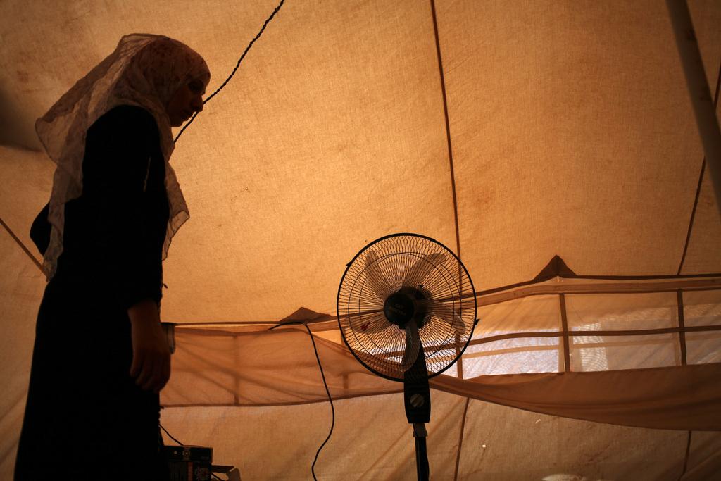 Im Flüchtlingslager in Mafraq, Jordanien (Keystone/AP Photo/Mohammad Hannon)