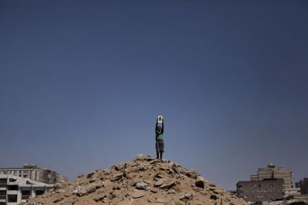 Ein Anhänger von Mohammed Mursi in Kairo, Ägypten (Keystone/AP Photo/Manu Bravo)