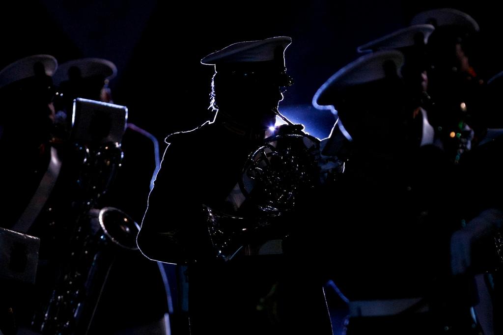 Auftritt beim Militärmusikfestival in Moskau (Keystone/AP Photo/Denis Tyrin)