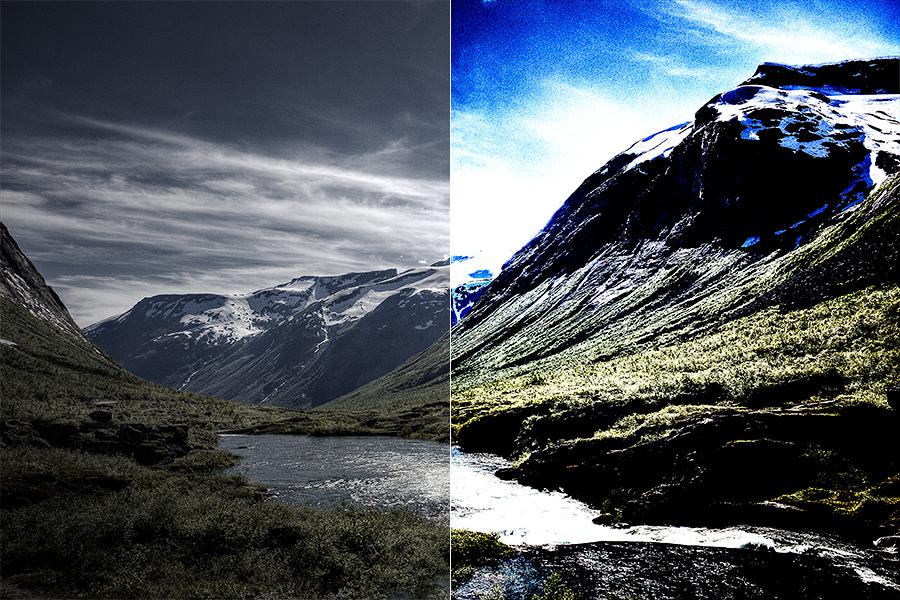 Bild 1: Ursprungs- und Ausgabebild im Vergleich