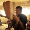 Taekwondo in einem syrischen Flüchtlingslager in Jordanien (AP Photo/Bela Szandelszky)