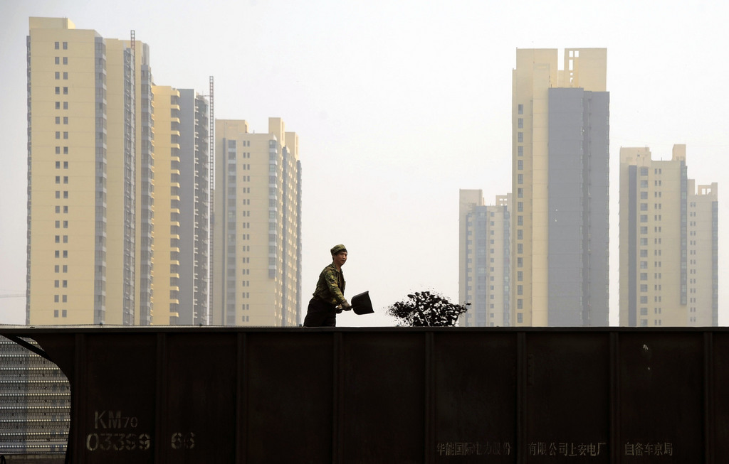 Arbeiter in Taiyuan, China (Keystone/AP Photo)