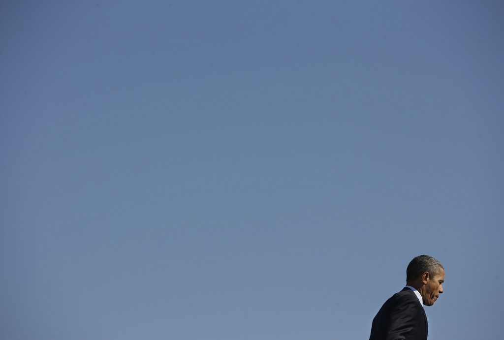 Barack Obama auf der Andrews Air Force Base, USA (Keystone/AP Photo/Pablo Martinez Monsivais)