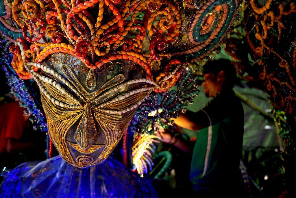 Vorbereitungen für ein Hindu-Fest, Kalkutta Indien EPA/PIYAL ADHIKARY
