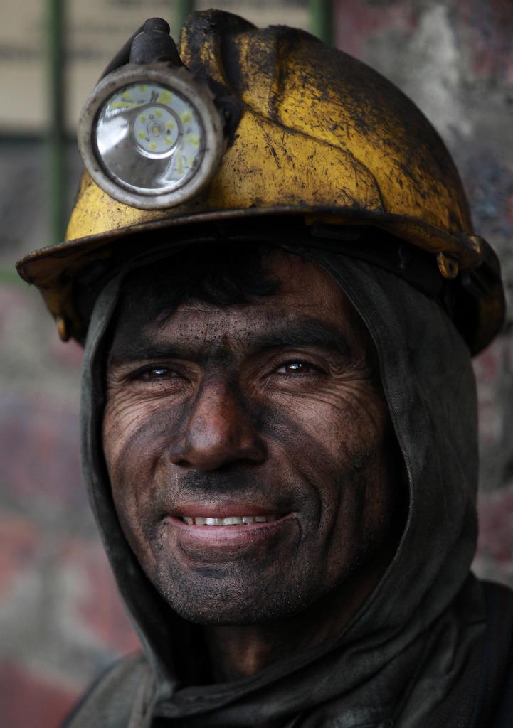 Porträt: Minenarbeiter in einem Kohlebergwerk in Kolumbien (AP Photo/Fernando Vergara)