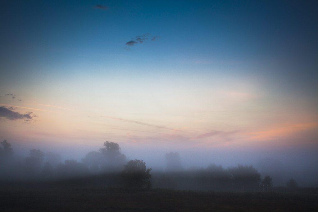 Nebliger Morgen nahe Nagykanizsa Ungarn EPA/GYORGY VARGA