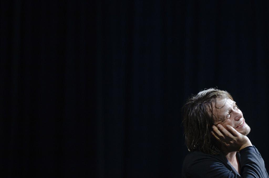 August Diehl als Hamlet in Wien, Österreich (Keystone/APA-Foto/Herbert Neubauer)