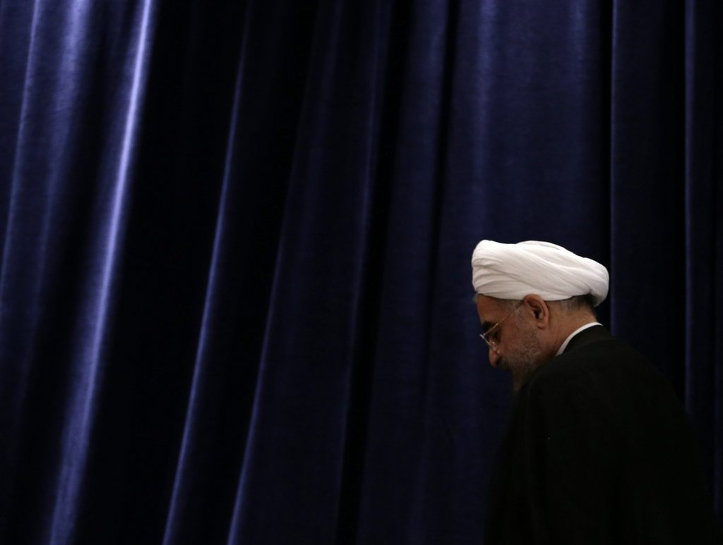 Hassan Rouhani in New York, USA (Keystone/EPA/Jason Szenes)