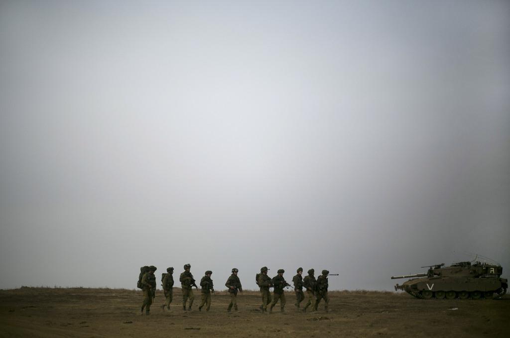 Soldaten auf den Golan Höhen, Israel (Keystone/AP Photo/Ariel Schalit)