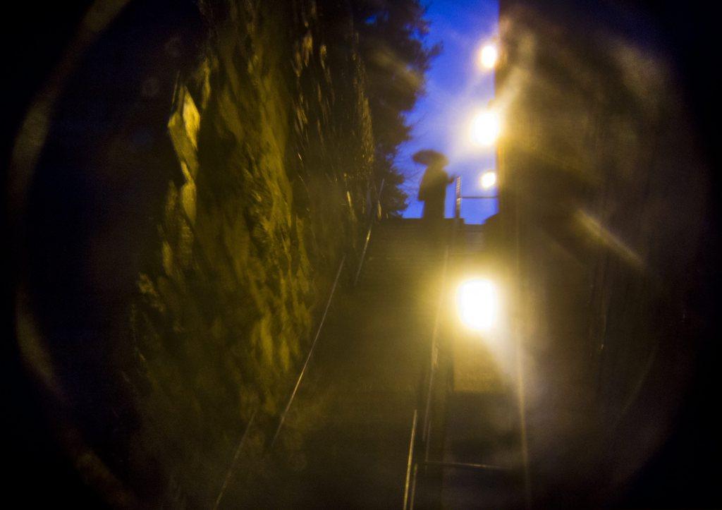 Der Exorzist: Die sogenannte Exorzisten-Treppe, Georgetown Washington DC, EPA/JIM LO SCALZO