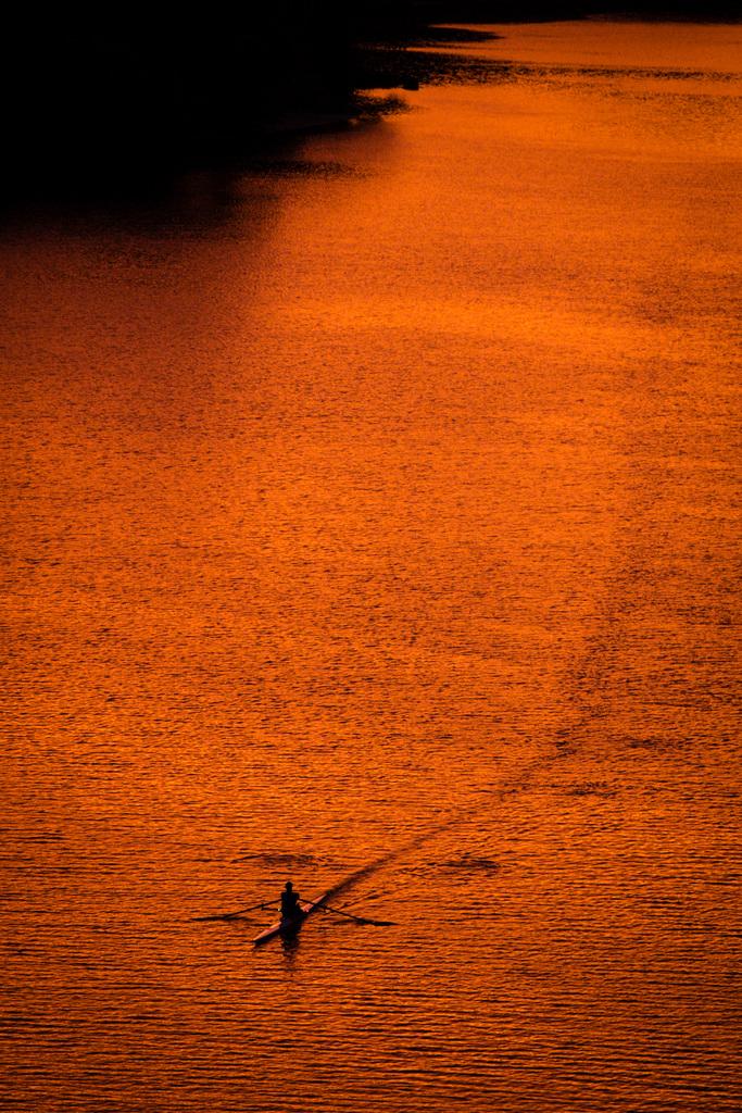 Ruderer auf dem Potomac in Washington, USA (Keystone/AP Photo/J. David Ake)