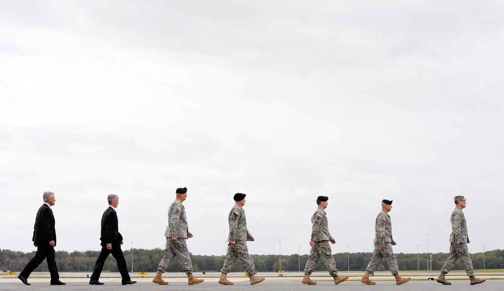 Pittoreske Szene auf der Dover Air Force Base, USA (Keystone/AP Photo/Steve Ruark)