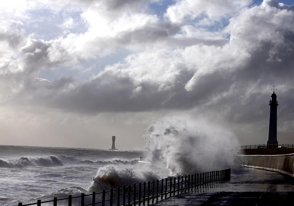 Sturm vor Seaburn, England (Keystone/AP Photo/Scott Heppell)