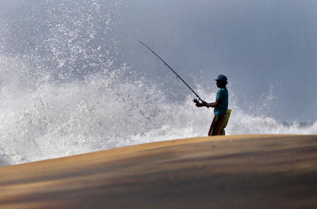 Fischer in Colombo, Sri Lanka (Keystone/AP Photo/Eranga Jayawardena)