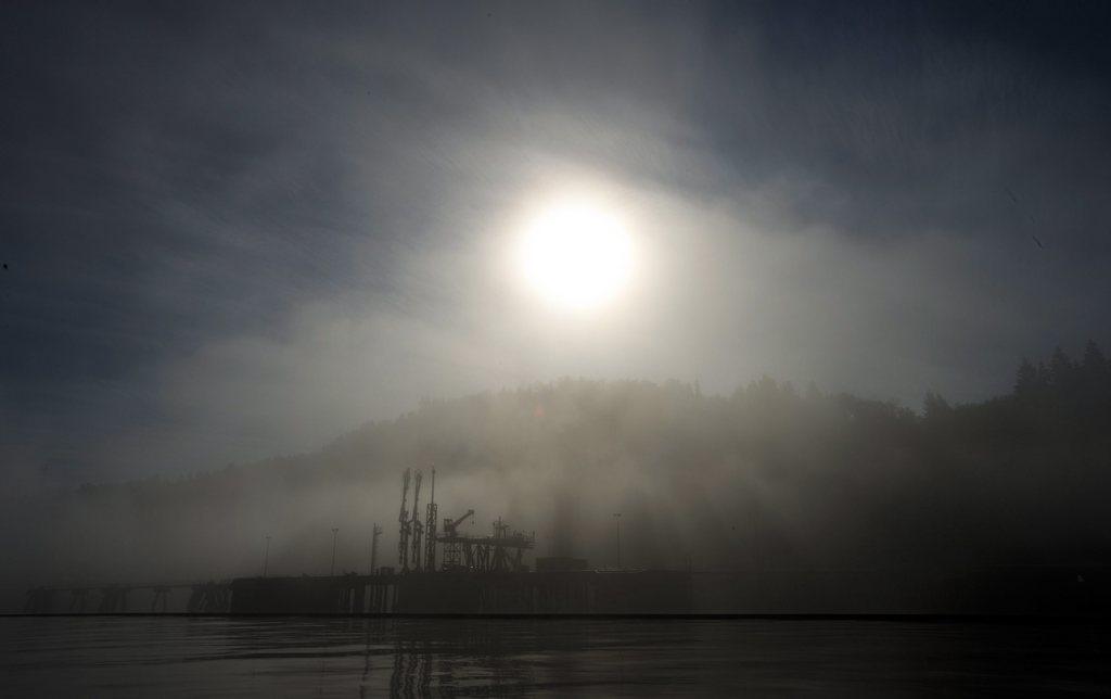 Morgennebel in Burnaby, British Columbia (Keystone/AP Photo/Jonathan Hayward)