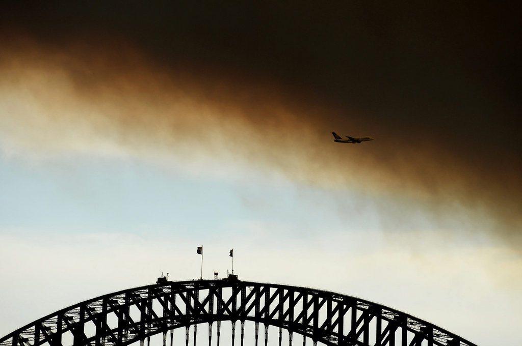 Rauch von Buschfeuern über Sydney, Australien (Keystone/EPA/James Morgan)