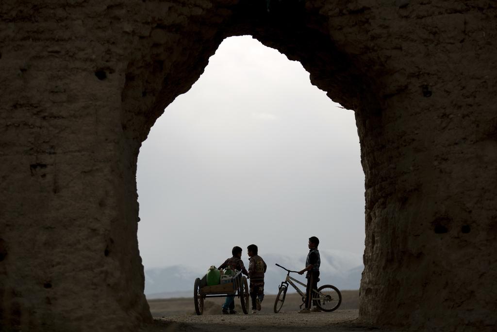 Tibetanische Kinder in Xiahe, China (Keystone/AP Photo/Andy Wong)
