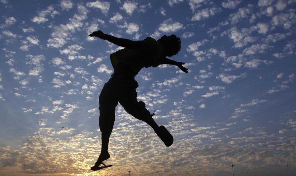 Volleyball in Mumbai, Indien (Keystone/AP Photo/Rajanish Kakade)