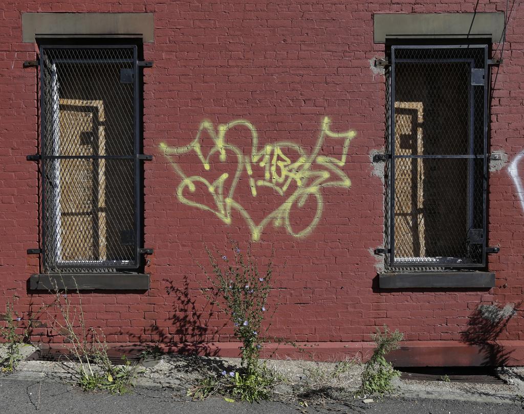 Graffiti in Newark, USA (Keystone/AP Photo/Julio Cortez)