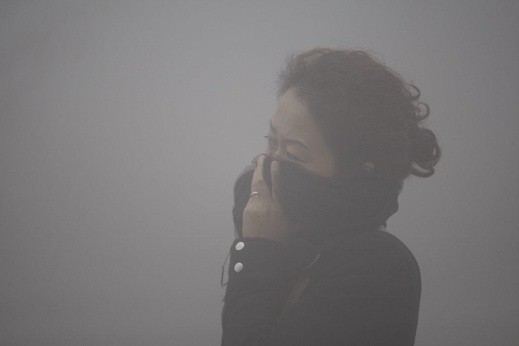 Smog in Harbin China EPA/Hao Bin