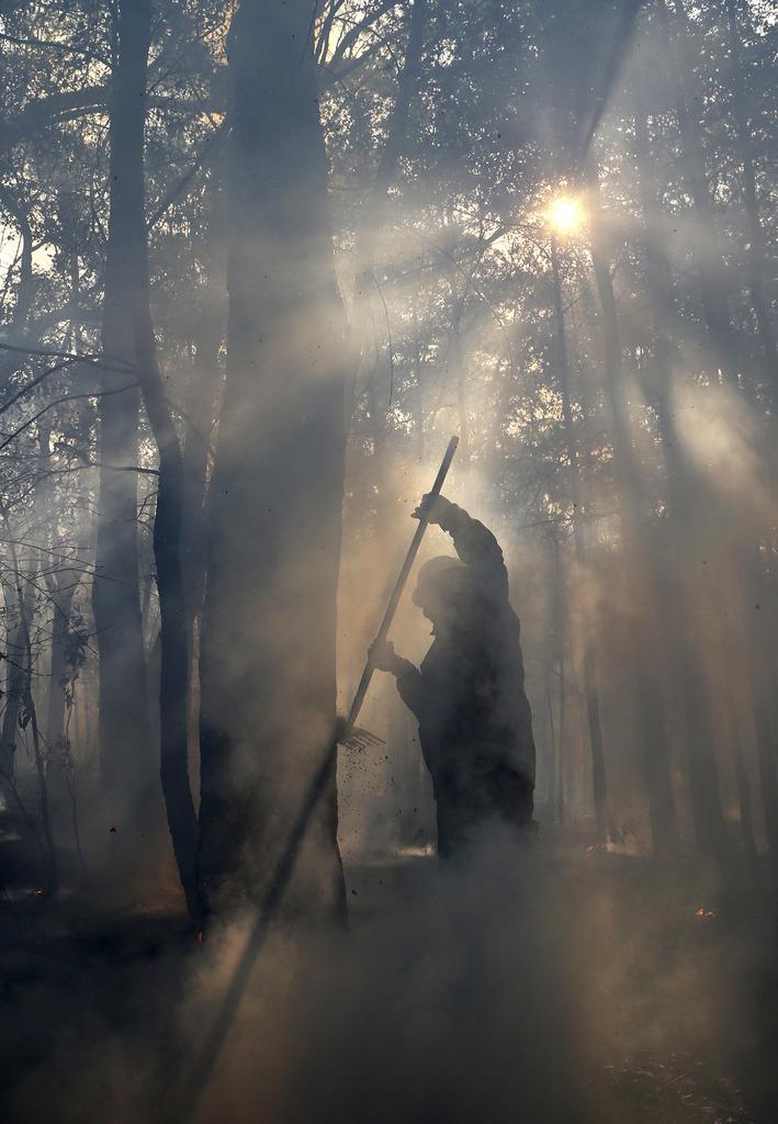 Buschfeuer in den Blue Mountains, Australien (Keystone/AP Photo/Rob Griffith)