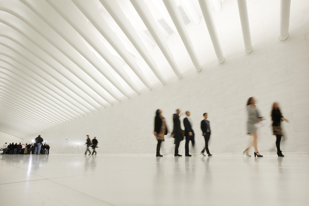Im neuen World Trade Center in New York, USA (Keystone/AP Photo/Mark Lennihan)