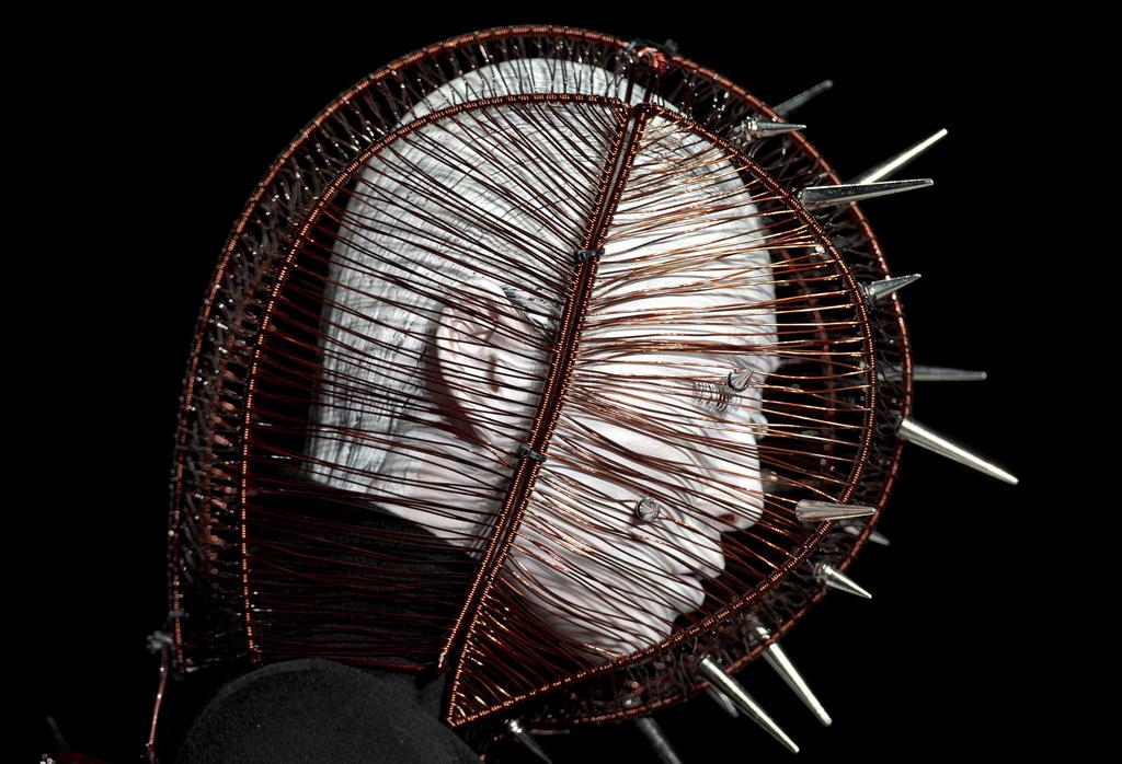 Kopf eines Models bei der Modewoche in Peking China  (AP Photo/Andy Wong)