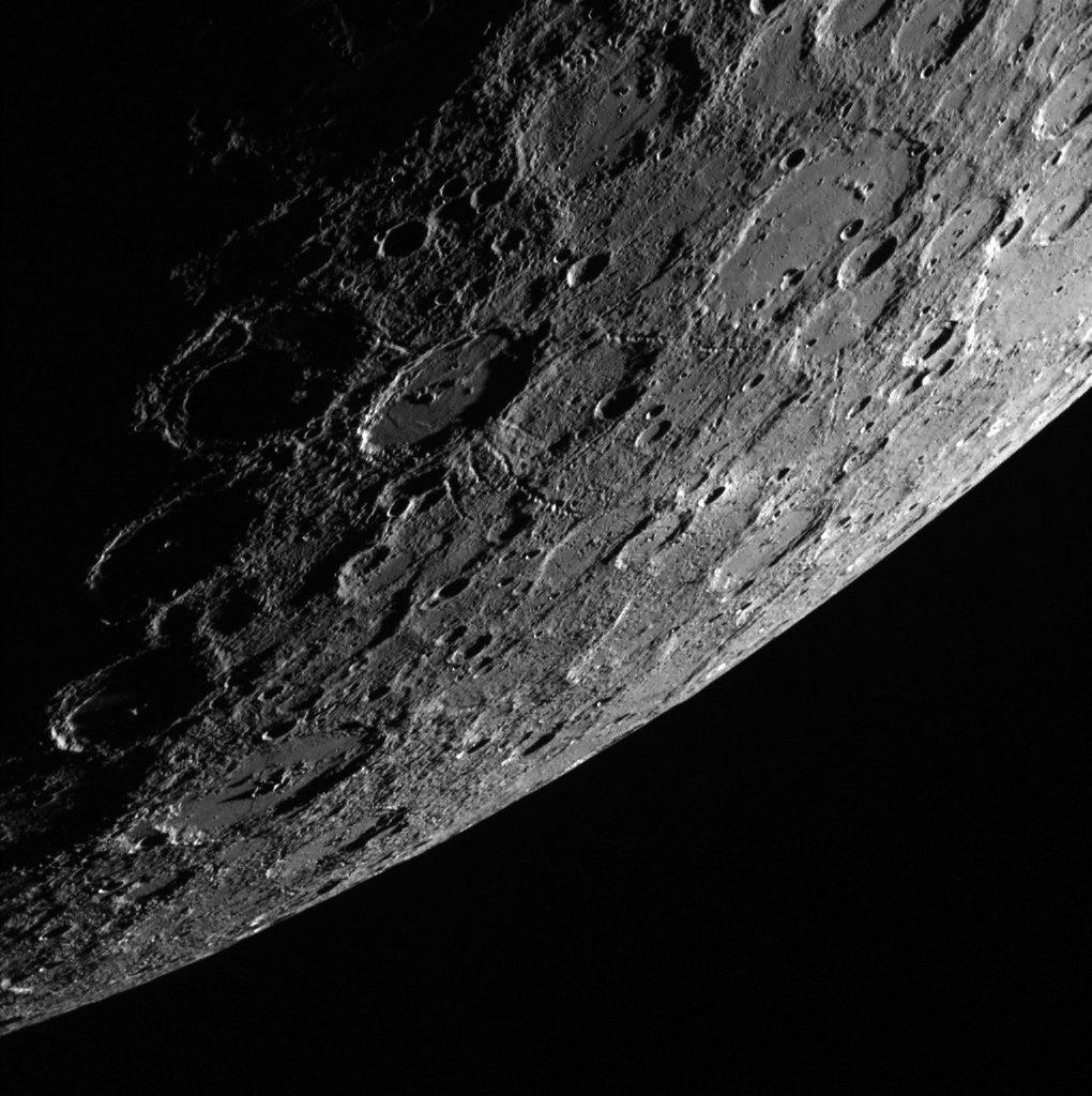 Nasa-Foto: Der Planet Merkur, aufgenommen von der Messenger-Mission mit Weitwinkelkamera