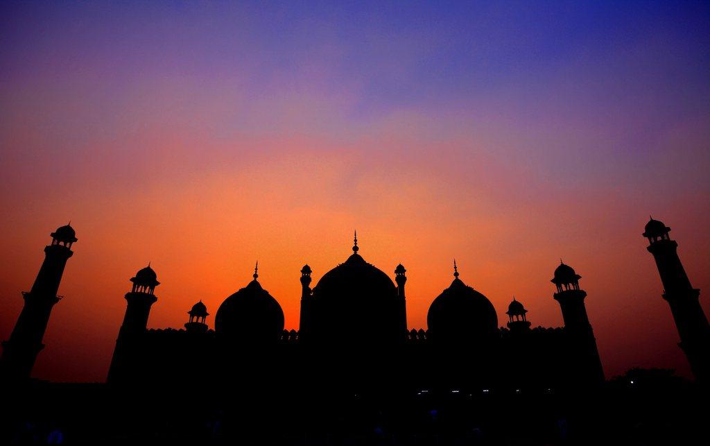 Die Badshahi Moschee in Lahore, Pakistan (Keystone/EPA/Omer Saleem)