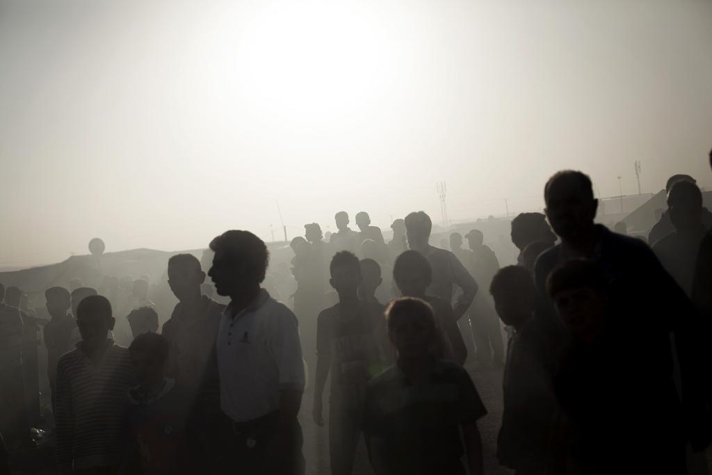 Syrische Flüchtlinge im Zaatari Flüchtlingscamp, Jordanien (Keystone/AP Photo/Manu Brabo)