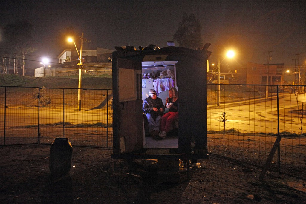 Zirkus Fama aus Mexiko mit einem Hauch von La Strada, Santiago de Chile (AP Photo/Luis Hidalgo, Archiv)