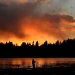 Sonnenuntergang in Bremerton, USA (Keystone/AP Photo/Larry Steagall)