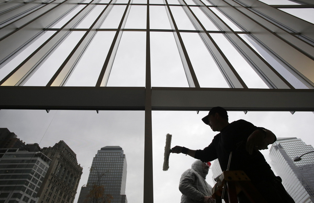 Arbeiter im World Trade Center in New York, USA (Keystone/AP Photo/Mark Lennihan)